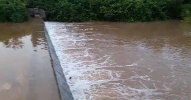 Com as fortes chuvas Barragem do Saco dos Polidorios começa a encher
