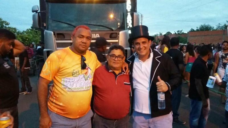 Secretário Ronaldo Brandão, Deputado Cicero Magalhães(deve ser o mais votado em Amarante neste pleito de 2018) e o Prefeito Diego Teixeira