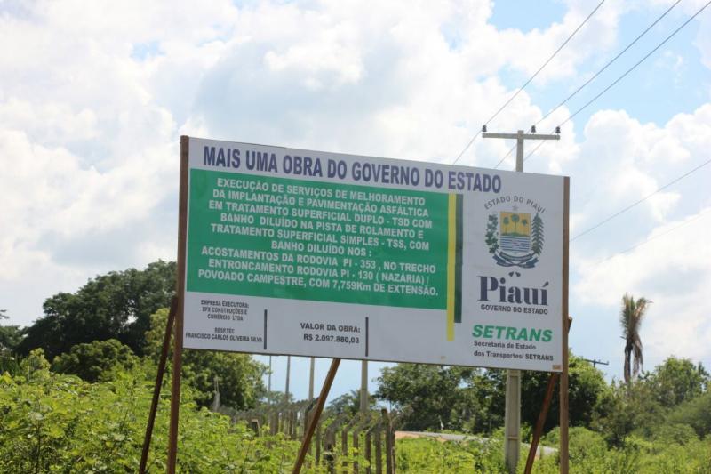 Obras de asfaltamento Nazária - Campestre estão em pleno andamento