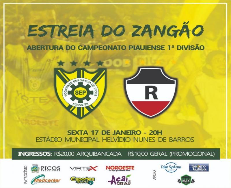 SEP enfrenta o River Atlético Clube na abertura do Campeonato Piauiense