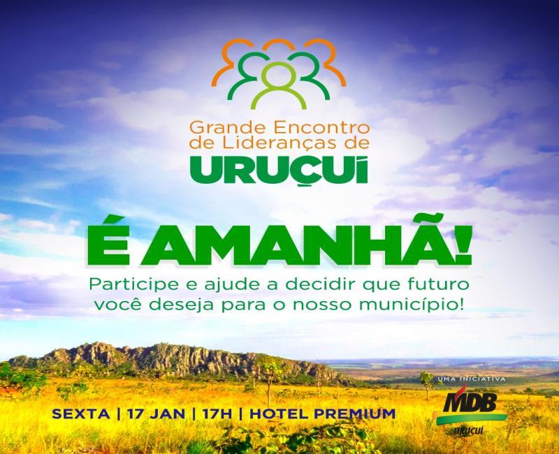 MDB de Uruçuí reúne lideranças nesta sexta-feira