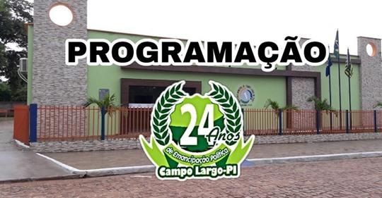 Prefeitura de Campo Largo-PI divulga programação do aniversário da cidade