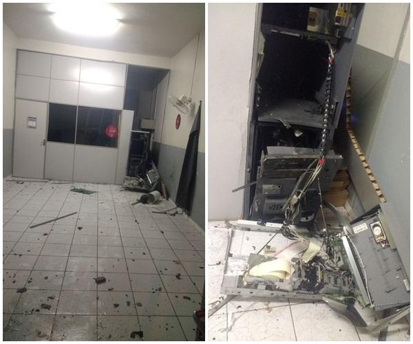 Bandidos furam pneus de viatura e explodem agência do Bradesco no PI