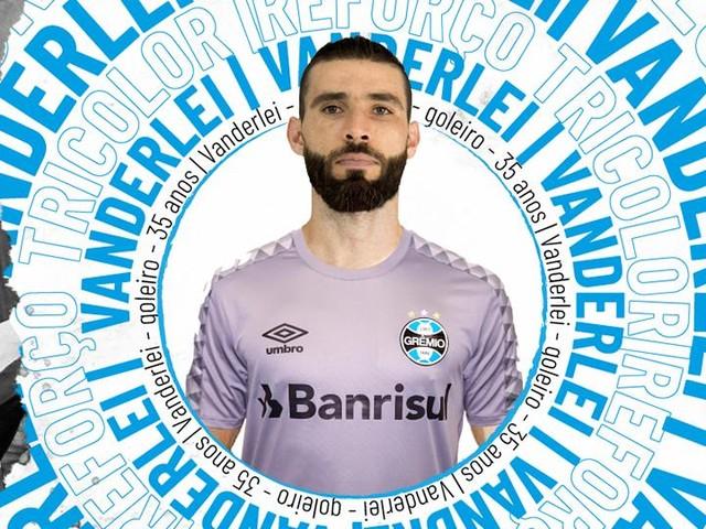 Grêmio anuncia a contratação do goleiro Vanderlei
