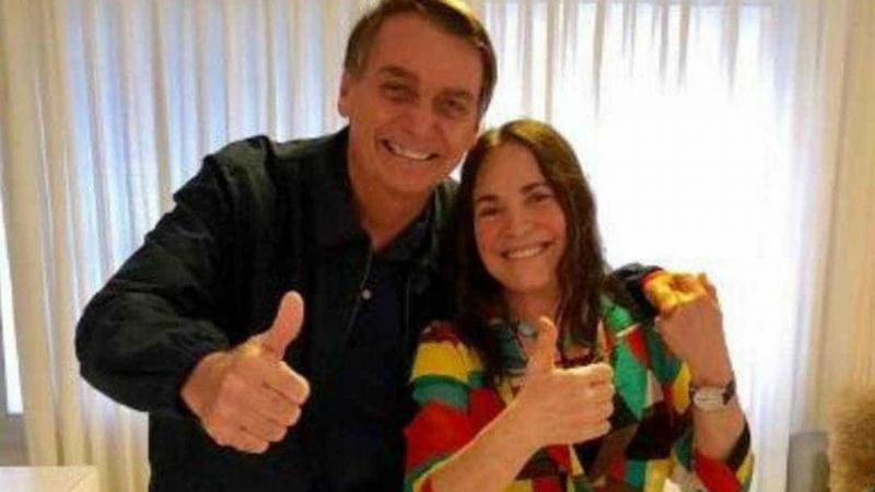 Bolsonaro vai ao Rio se encontrar com Regina Duarte