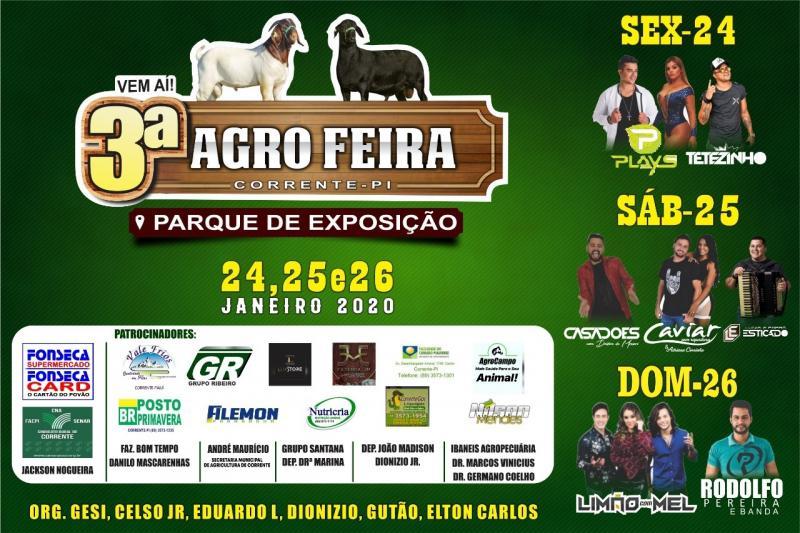 Corrente realizará a 3º edição do Agro Feira