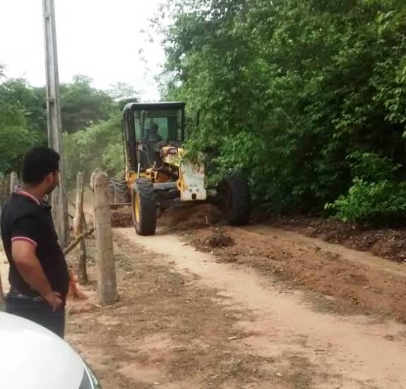 Pau D'arco |Prefeitura intensifica obras nas estradas vicinais do município