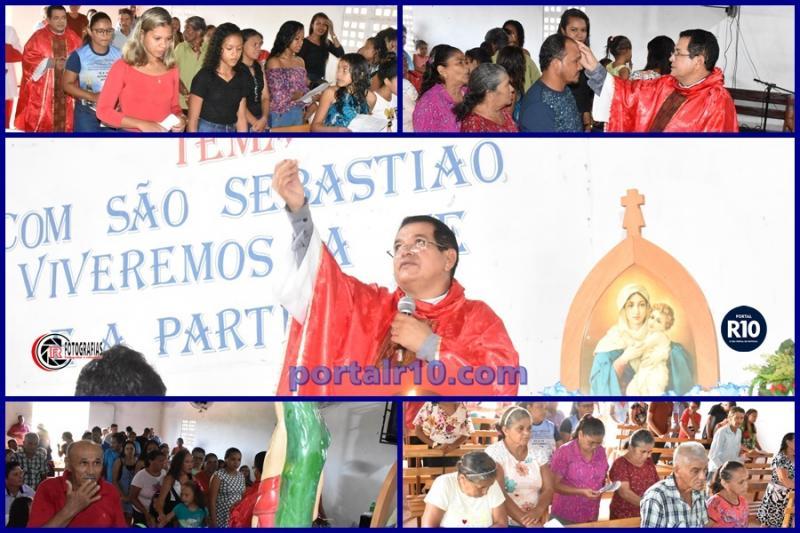 Pe. Jucelino celebra missa no encerramento dos festejos de São Sebastião