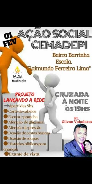 CEMADEPI/Beneditinos realizará dia de Ação Social
