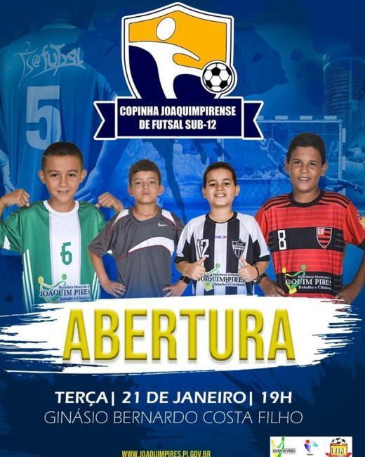 Copinha Joaquimpirense de Futsal Sub-12 inicia nesta terça (21)