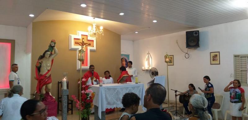 Lagoinha do Piauí encerra festejos de São Sebastião com missa e procissão