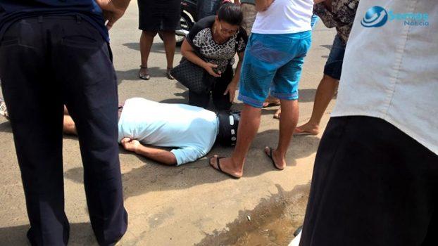 Motociclista fica desacordado após colisão entre motos em Amarante
