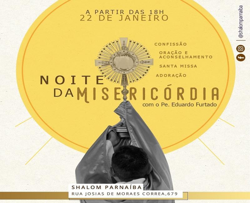 Noite da Misericórdia acontece nesta quarta-feira em Parnaíba