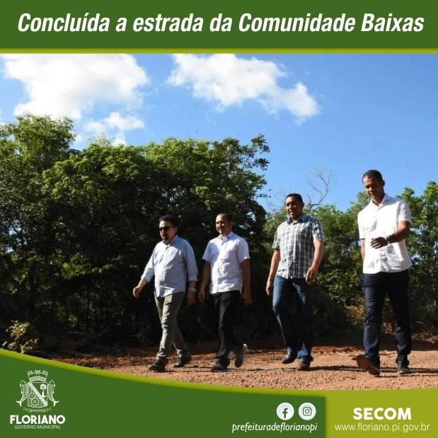 Mais uma obra de acessibilidade foi concluída na zona rural de Floriano