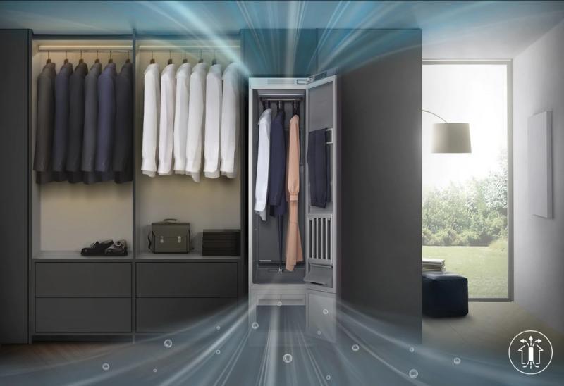 Armário inteligente da Samsung promete limpar e 'passar' roupas sozinho