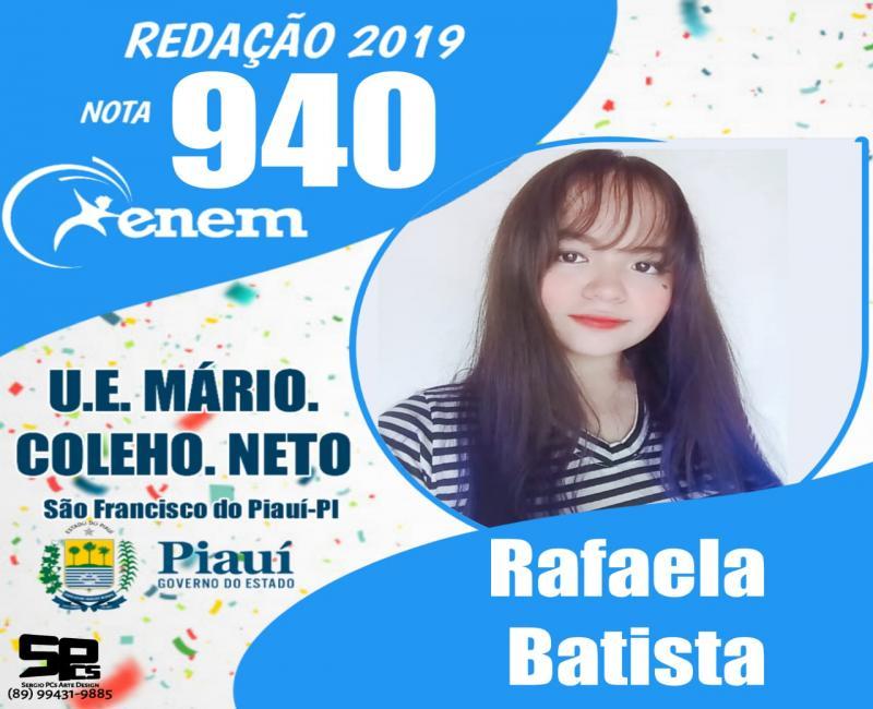 Alunos de São Francisco do Piauí tiram notas a cima de 940 no Enem 2019