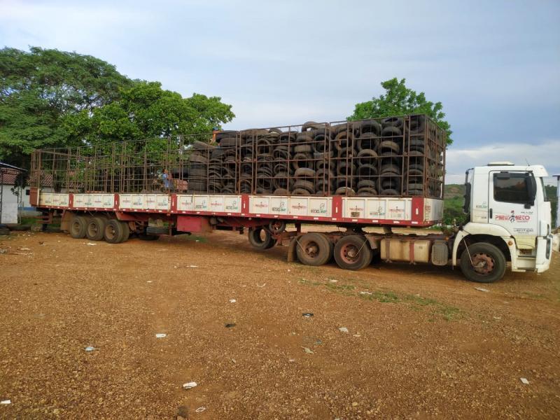 Oeiras recicla mais de 70 toneladas de pneus em 9 meses de coleta seletiva
