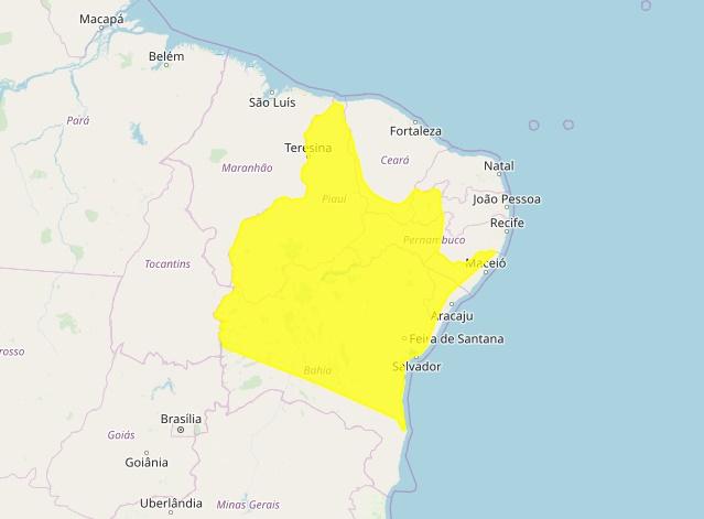 Inmet prevê temporais no Piauí até esta sexta-feira