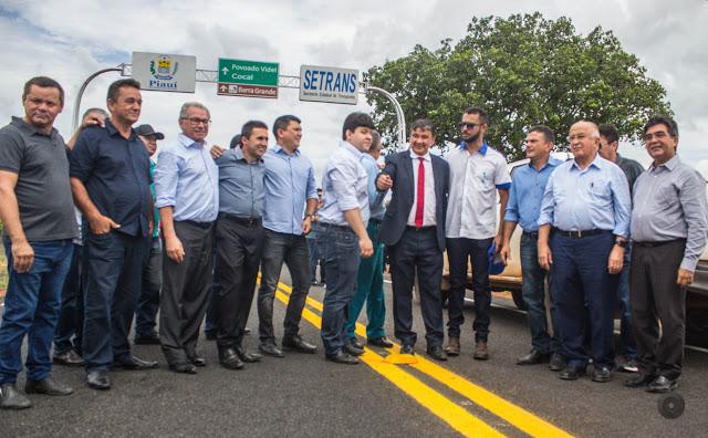 Prefeito Rubens Vieira recepciona governador Wellington Dias em Cocal