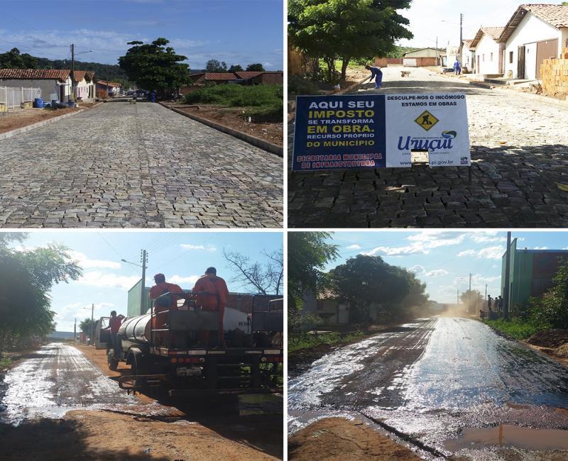 Receita Municipal de Uruçuí Está Sendo Usada para pavimentação de Ruas
