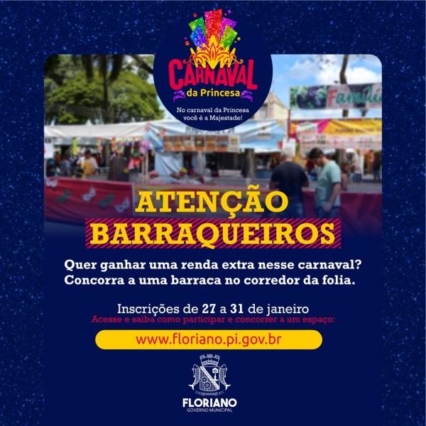 Lançado edital para concorrer a barracas do Carnaval de Floriano