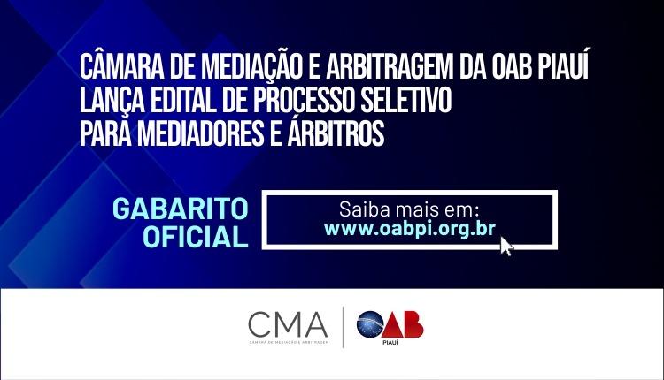 Confira o gabarito oficial para seleção de mediadores e árbitros