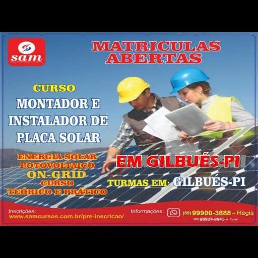 MATRICULAS ABERTAS CURO DE MONTADOR E INSTALADOR DE PLACA SOLAR
