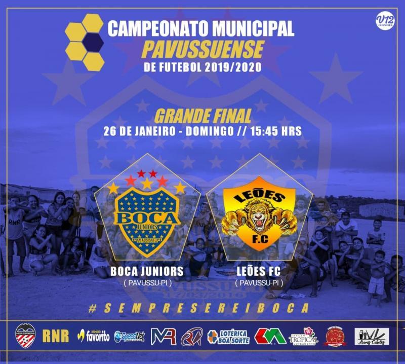 Final do Campeonato de Futebol Amador de Pavussu acontece neste domingo