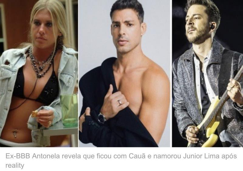 Ex-BBB revela que ficou com Cauã e namorou Junior Lima após reality