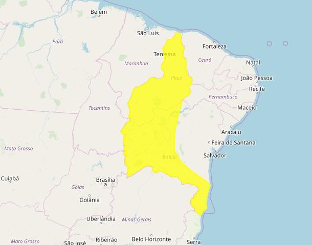 INMET alerta para acúmulo de chuvas em municípios do PI