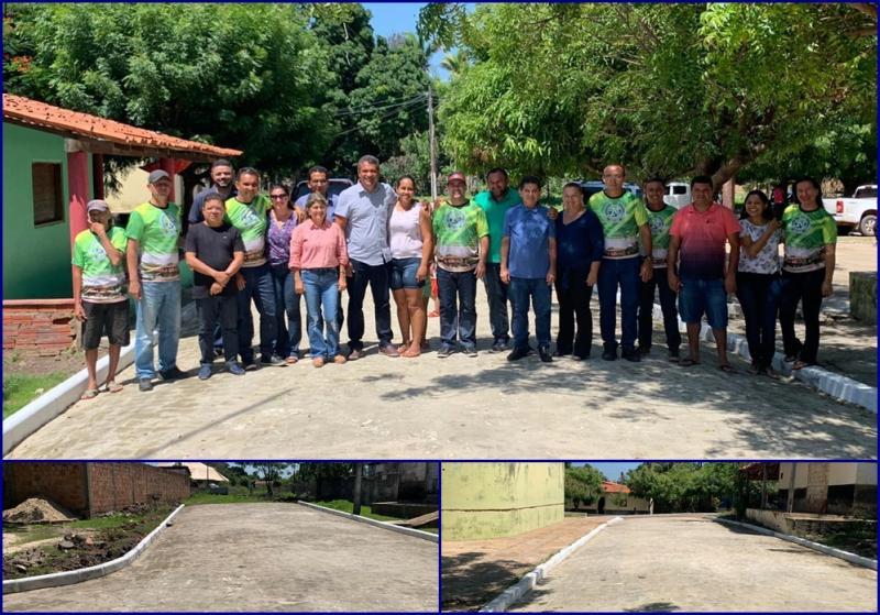 Inauguração de 300 m de pavimentação em paralelepípedo no povoado Costa