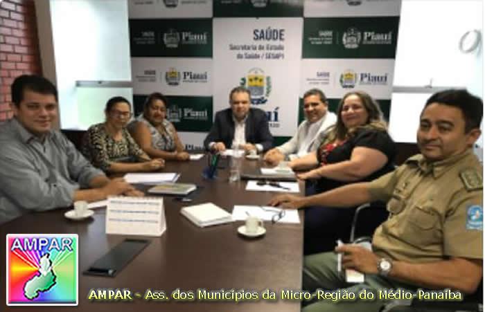 Prefeito de Demerval Lobão, Júnior Carvalho (presid. da AMPAR) representa APPM em reunião na SESAPI