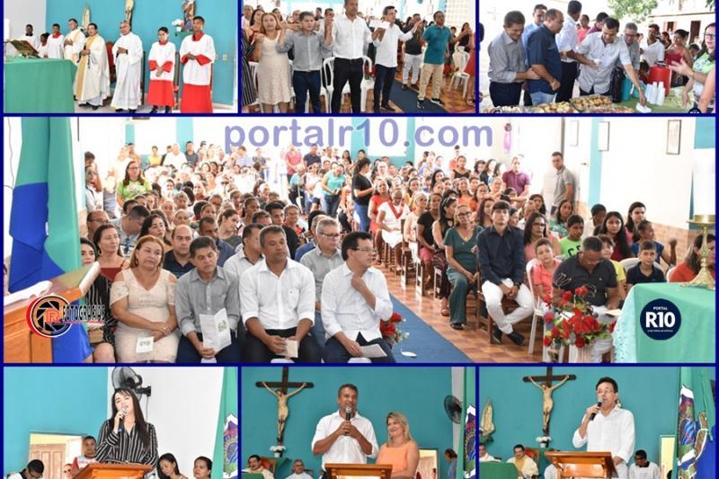Deputado Zé Santana participa da missa de 24 anos de Campo Largo do Piauí