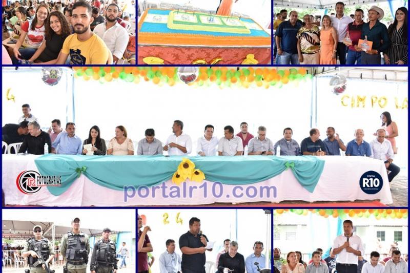 Corte do bolo e entrega de premiações pelos 24 anos de Campo Largo do Piauí