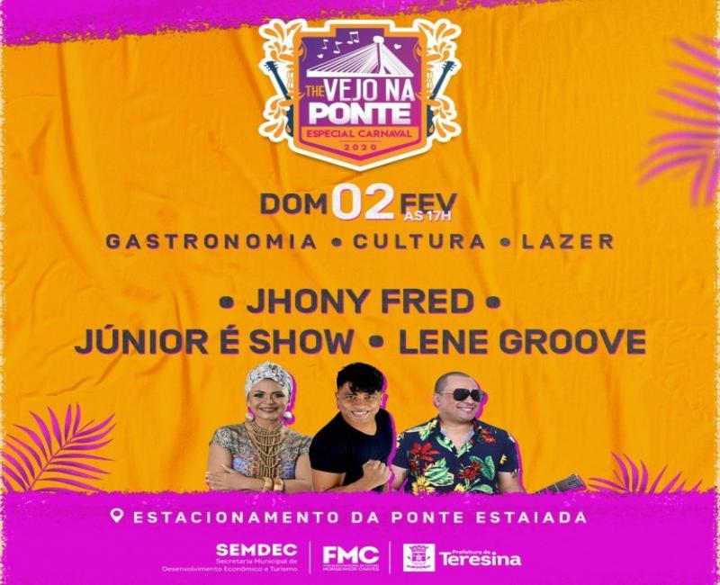 Confira as atrações do Festival 'The Vejo na Ponte' de domingo (02)