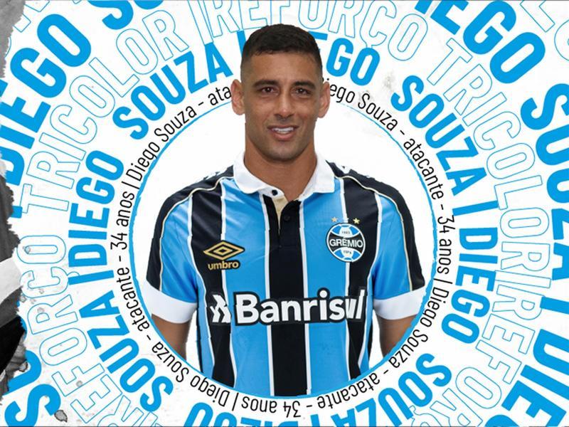 Grêmio confirma contratação de Diego Souza por uma temporada
