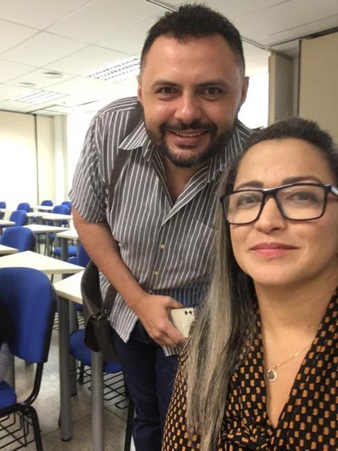 Secretário de Saúde Herbert César e a Coordenadora de Atenção Básica Márcia Heloísa - Foto: Reprodução