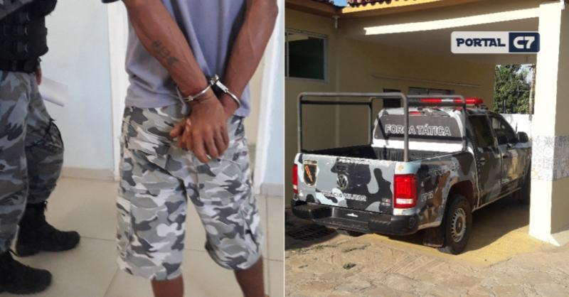 Acusado de violência contra mãe e irmã é levado para hospital de Amarante