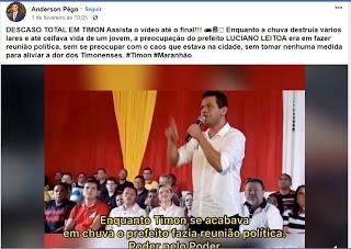 População reage à manifestação de vereador de Timon nas redes sociais