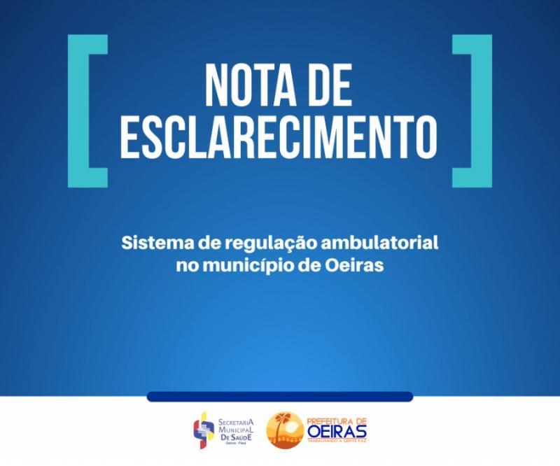 Nota de Esclarecimento: Novo sistema de regulação ambulatorial em Oeiras