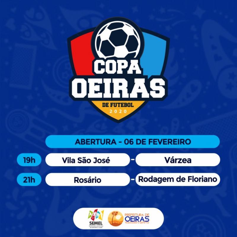Copa Oeiras de Futebol começa nesta quinta-feira (06); veja tabela de jogos
