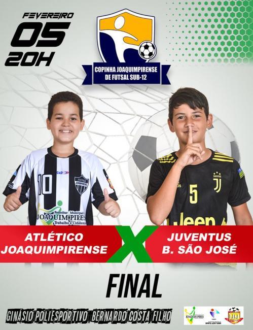 Final da copinha joaquimpirense de futsal Sub-12 será nesta quarta