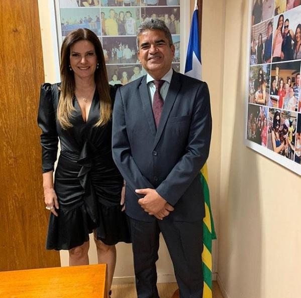 Prefeito Murilo se reúne com Iracema Portella para discutir investimentos