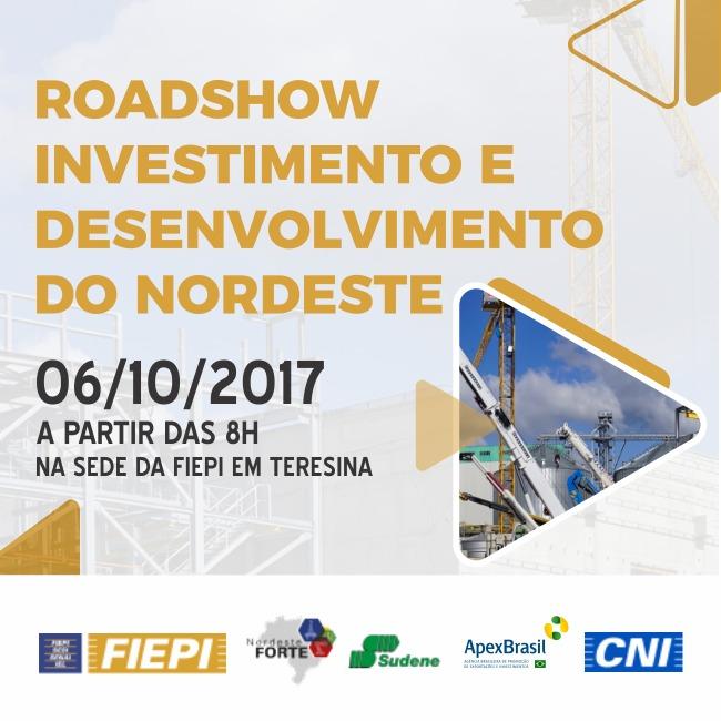 FIEPI realizará 'Roadshow: Investimento e Desenvolvimento do Nordeste'