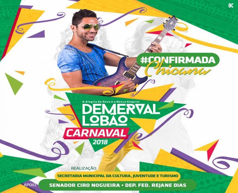 Secretário de cultura divulga atração para o primeiro dia de carnaval em Demerval Lobão