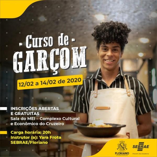 Inscrições abertas para o Curso de Garçom em Floriano