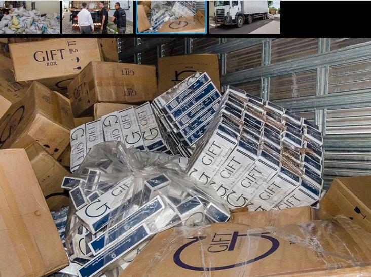Polícia realiza apreensão de carga de cigarros avaliada em R$ 2 milhões