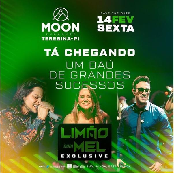 Limão com Mel se apresentará na Moon em Teresina