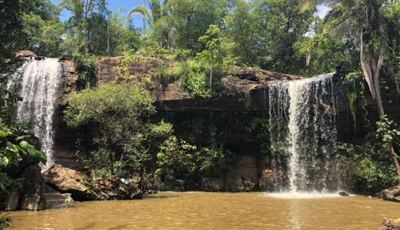 Cachoeiras são opção de lazer e ecoturismo no período chuvoso