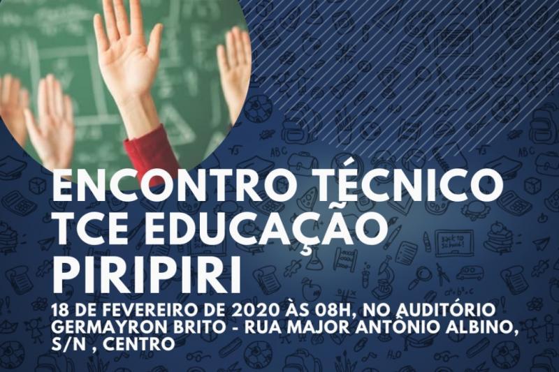 TCE/PI realizará Encontro Técnico sobre educação em Piripiri no dia 18